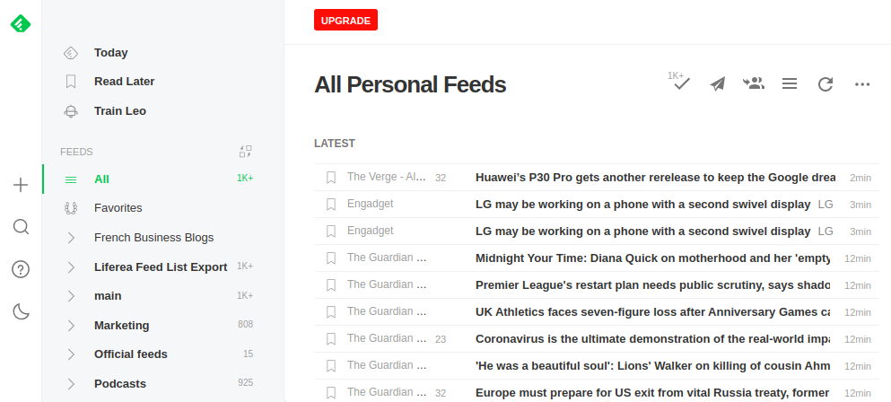 curating content with a feed reader