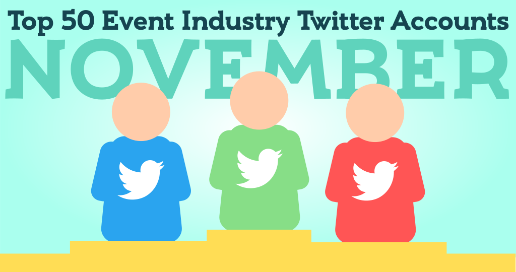 Top 50 Event Industry Twitter accounts to follow in November