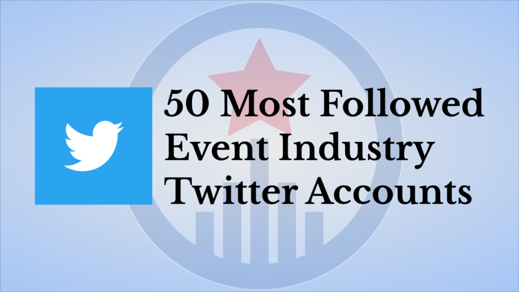 event industry twitter accounts